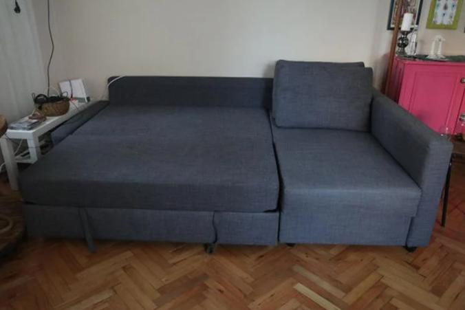 ikea bazalı üstelik yataklı köşe kanepe, skiftebo koyu gri koltuk, sümer spot !