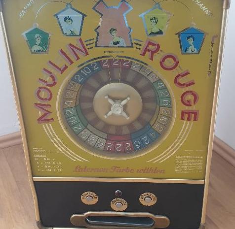 antika rulet makinesi 1960 model bir makine halen çalışıyor