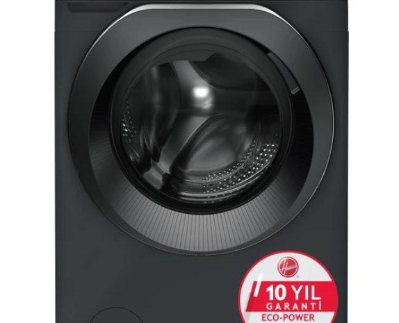 Spot İkinci El Siyah Hoover 9 kilo Wi-Fi Bluetooth 1400 Devir Çamaşır Makinesi